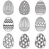 Σύνολο αυγών Πάσχας Διανυσματικά γραπτά αυγά που απομονώνονται στο άσπρο υπόβαθρο Στοκ Εικόνες