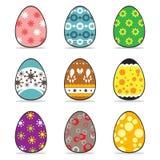 Σύνολο αυγών Πάσχας εικονιδίων Στοκ Φωτογραφία