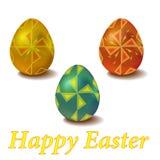 Σύνολο αυγών Πάσχας χρώματος με τον ανεμόμυλο διακοσμήσεων Στοκ Εικόνες