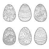 Σύνολο αυγών Πάσχας Στοκ Εικόνες