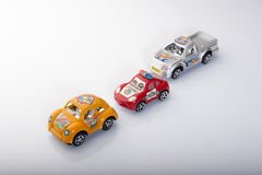 Σύνολο αυτοκινήτων που απομονώνεται στο άσπρο υπόβαθρο Στοκ φωτογραφίες με δικαίωμα ελεύθερης χρήσης