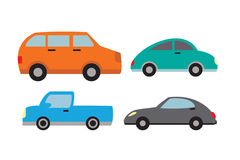 Σύνολο αυτοκινήτων Στοκ Εικόνες