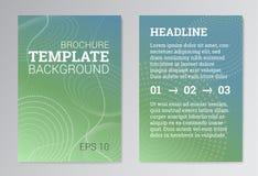 Σύνολο αφίσας, πρότυπα σχεδίου φυλλάδιων σε πράσινο Ελεύθερη απεικόνιση δικαιώματος