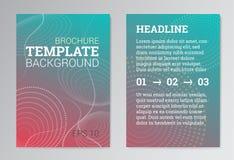 Σύνολο αφίσας, πρότυπα σχεδίου φυλλάδιων σε πράσινο Στοκ Εικόνες