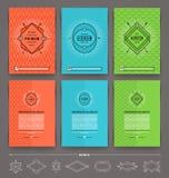 Σύνολο αφηρημένου σχεδίου σελίδων ιπτάμενων προτύπων διανυσματική απεικόνιση