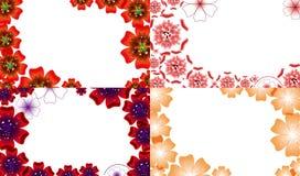 Σύνολο αφηρημένου υποβάθρου λουλουδιών με τη θέση για Στοκ φωτογραφίες με δικαίωμα ελεύθερης χρήσης