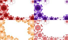 Σύνολο αφηρημένου υποβάθρου λουλουδιών με τη θέση για Στοκ Εικόνες