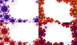 Σύνολο αφηρημένου υποβάθρου λουλουδιών με τη θέση για Στοκ εικόνες με δικαίωμα ελεύθερης χρήσης