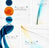 Σύνολο αφηρημένων γεωμετρικών υποβάθρων Κύματα ελεύθερη απεικόνιση δικαιώματος