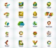 Σύνολο αφηρημένων διανυσματικών εικονιδίων λογότυπων ελεύθερη απεικόνιση δικαιώματος
