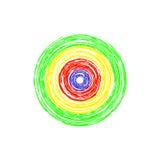 Σύνολο αφηρημένων κύκλων στο άσπρο υπόβαθρο Στοκ φωτογραφία με δικαίωμα ελεύθερης χρήσης