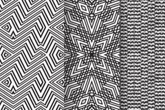 Σύνολο 3 αφηρημένων σχεδίων Στοκ Εικόνες