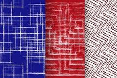 Σύνολο 3 αφηρημένων σχεδίων Στοκ Εικόνα