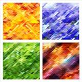 Σύνολο αφηρημένων υποβάθρων με τα ζωηρόχρωμα τρίγωνα Στοκ φωτογραφία με δικαίωμα ελεύθερης χρήσης
