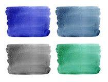 Σύνολο αφηρημένων υποβάθρων watercolor Στοκ Εικόνες