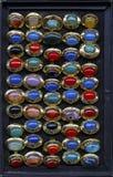 Σύνολο δαχτυλιδιών αχατών Στοκ Εικόνες
