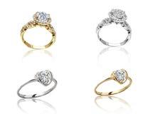 Σύνολο δαχτυλιδιών Καλύτερο γαμήλιο δαχτυλίδι αρραβώνων Στοκ Εικόνες