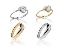 Σύνολο δαχτυλιδιών Καλύτερο γαμήλιο δαχτυλίδι αρραβώνων Στοκ εικόνες με δικαίωμα ελεύθερης χρήσης