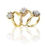 Σύνολο δαχτυλιδιών Καλύτερο γαμήλιο δαχτυλίδι αρραβώνων Στοκ Εικόνα