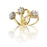 Σύνολο δαχτυλιδιών Καλύτερο γαμήλιο δαχτυλίδι αρραβώνων Στοκ φωτογραφία με δικαίωμα ελεύθερης χρήσης