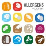 Σύνολο αλλεργιών τροφίμων Στοκ φωτογραφία με δικαίωμα ελεύθερης χρήσης