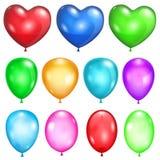 Σύνολο αδιαφανών μπαλονιών ελεύθερη απεικόνιση δικαιώματος