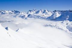 Σύνολο αλυσίδων βουνών του χιονιού Στοκ εικόνες με δικαίωμα ελεύθερης χρήσης