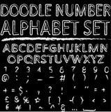 Σύνολο αλφάβητου αριθμού Doodle Στοκ εικόνα με δικαίωμα ελεύθερης χρήσης