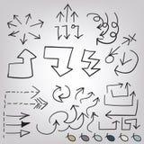 Σύνολο βελών Doodle Στοκ φωτογραφία με δικαίωμα ελεύθερης χρήσης