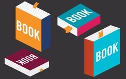 Σύνολο βιβλίων στο επίπεδο σχέδιο, απεικόνιση Στοκ Εικόνα