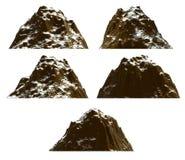 Σύνολο βουνών, που απομονώνεται Στοκ εικόνα με δικαίωμα ελεύθερης χρήσης