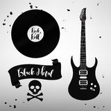 Σύνολο βράχου - και - σημάδια μουσικής ρόλων, στοιχεία, ετικέτες Στοκ φωτογραφίες με δικαίωμα ελεύθερης χρήσης