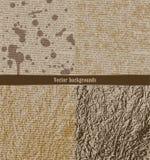 Σύνολο βρώμικων υποβάθρων Παλαιό έγγραφο με το δακτυλογραφημένο κείμενο Στοκ φωτογραφία με δικαίωμα ελεύθερης χρήσης