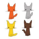 Σύνολο γάτας τέσσερα Στοκ φωτογραφίες με δικαίωμα ελεύθερης χρήσης