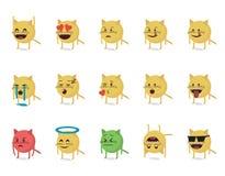 Σύνολο γάτας emoticon Στοκ Εικόνες