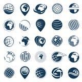 Σύνολο γήινων λογότυπων Στοκ Εικόνα
