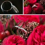 Σύνολο γαμήλιων δαχτυλιδιών Στοκ εικόνα με δικαίωμα ελεύθερης χρήσης