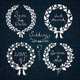 Σύνολο γαμήλιων στεφανιών ελεύθερη απεικόνιση δικαιώματος