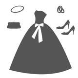 Σύνολο γαμήλιων στοιχείων Στοκ εικόνα με δικαίωμα ελεύθερης χρήσης