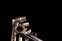 Σύνολο γαλλικών κλειδιών, εκλεκτική εστίαση, εθελοντική θαμπάδα Στοκ εικόνα με δικαίωμα ελεύθερης χρήσης