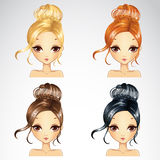 Σύνολο γεγονότος αναδρομικό Hairstyle απεικόνιση αποθεμάτων