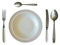 Σύνολο γευμάτων που απομονώνεται Στοκ φωτογραφία με δικαίωμα ελεύθερης χρήσης