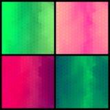 Σύνολο γεωμετρικού ζωηρόχρωμου σχεδίου τέσσερα Στοκ φωτογραφίες με δικαίωμα ελεύθερης χρήσης