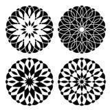 Σύνολο γεωμετρικών floral διακοσμήσεων Στοκ φωτογραφία με δικαίωμα ελεύθερης χρήσης