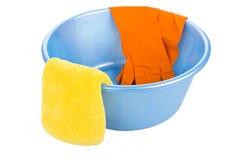 Σύνολο για τα πιάτα πλύσης Στοκ εικόνες με δικαίωμα ελεύθερης χρήσης