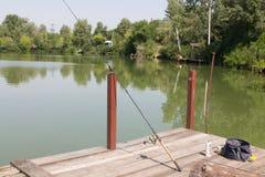 Σύνολο για την αλιεία Στοκ Εικόνες
