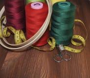 Σύνολο για το ράψιμο, κεντητική Στοκ φωτογραφίες με δικαίωμα ελεύθερης χρήσης