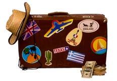 Σύνολο για το ταξίδι και τη βαλίτσα Στοκ φωτογραφία με δικαίωμα ελεύθερης χρήσης
