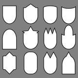 Σύνολο γραμμής ασπίδων Στοκ Φωτογραφία