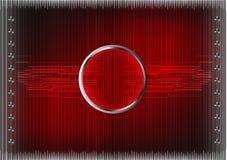 Σύνολο γραμμών σε ένα κόκκινο υπόβαθρο Στοκ Φωτογραφίες